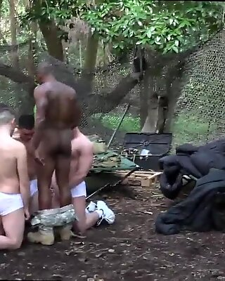 Marine being jerked off gay A insatiable training day finishes with