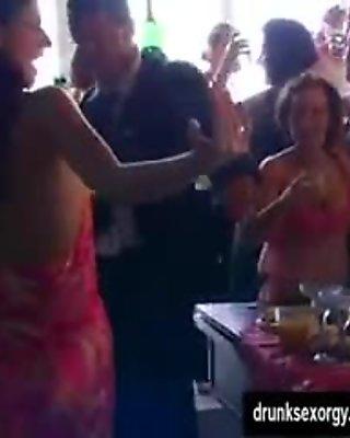 Sluts suck and fuck at a party
