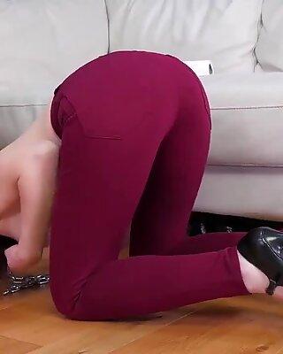 Teen licking daddy ass and eat cum