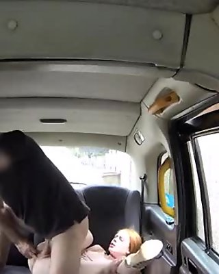 Sweet Ella takes a big cock in the taxi