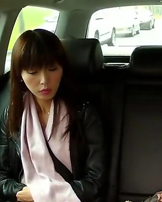 Fake taxi driver fucks a shaved pussy babe