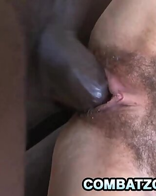 Ashley Woods - Hairy Teen Plugged By A Big Black Dong