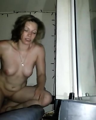 my hot german GF banged risky at open window