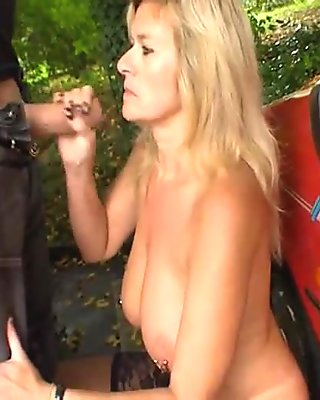 Incredible german MILF with many piercings