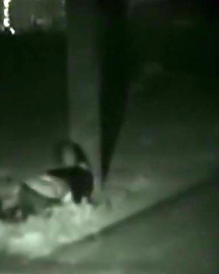 Voyeur tapes a partyslut having oral, masturbation and cowgirl sex in public.