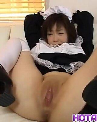 Kasumi Uehara maid is fucked with toy - More at hotajp.com