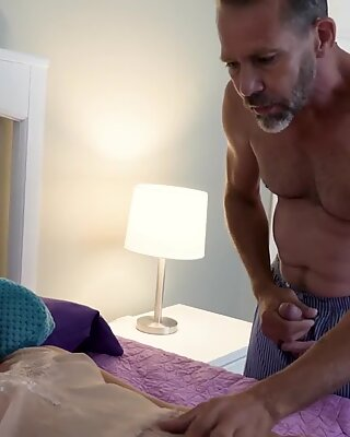 Dakota Knight bends over and gets a hard pussy penetration