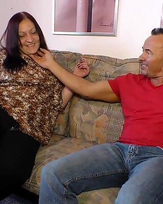 AMATEUR EURO - Chubby Granny Heike W. Fucks With Mature Guy