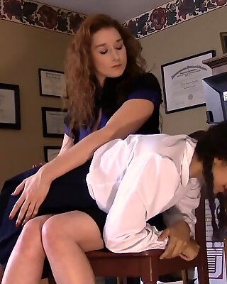 college Girl Gets A bare Bottom spanking for Stealing Candy