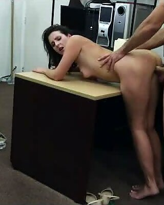 Amateur wife of a customer gets twat fucked