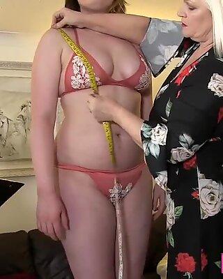 Lesbian gran eats pussy