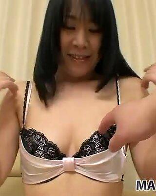Splendid Japanese babe Yuka Imai would like to get her pussy drilled