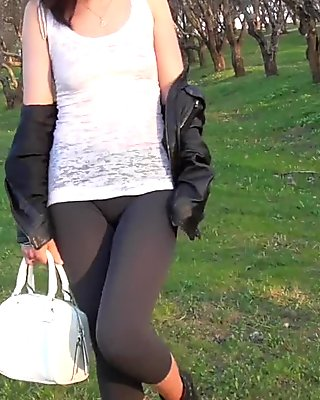Jeny Smith see through yoga pants fetish