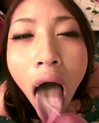 Sweet young Asian gives a sexy POV BJ