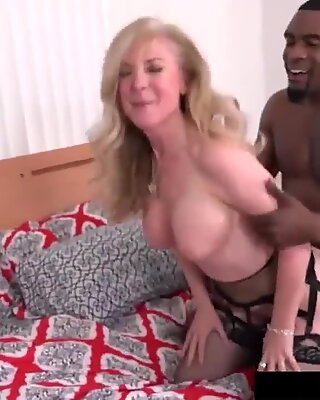 Big Black Cock Rome Major Fucks Hot White Milf Nina Hartley!