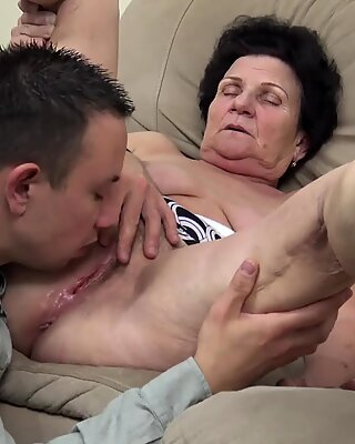 72 years old hairy granny rough fucked