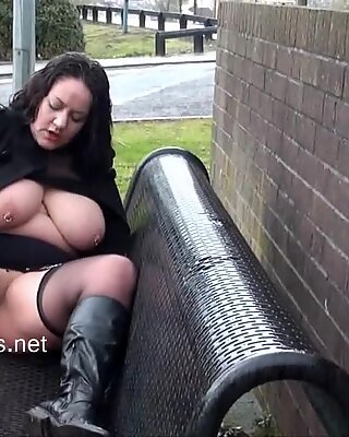 chubby wifes public masturbation and big-chested amateur flashers horny outdoor