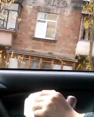 Public dick car flash with cum 26 - She looks