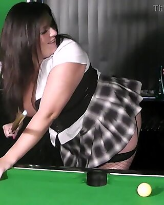 Married lad  fucks bbw in fishnets from behind