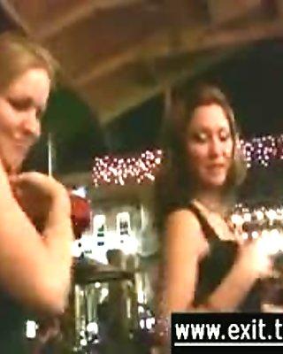Lesbian teasing in public wild amateurs
