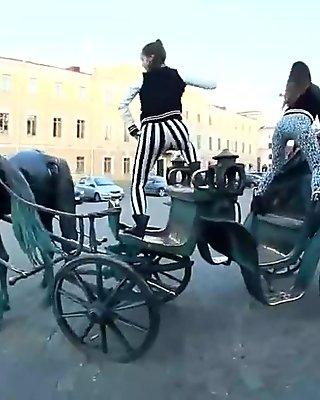 Russian Girls Twerk In Public Places