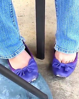 Public Barefoot Shoeplay With Sam Libby Ballet Flats